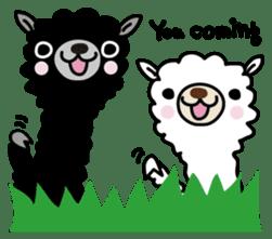 Three alpacas sticker sticker #4009716