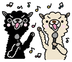 Three alpacas sticker sticker #4009717