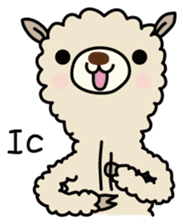 Three alpacas sticker sticker #4009740