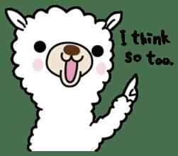Three alpacas sticker sticker #4009741