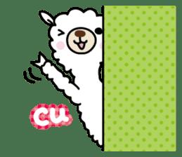 Three alpacas sticker sticker #4009749