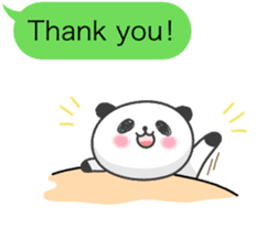 Message of panda! sticker #4011351