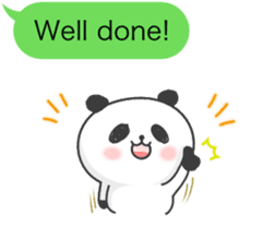 Message of panda! sticker #4011352