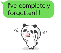 Message of panda! sticker #4011357