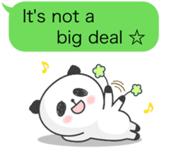 Message of panda! sticker #4011358