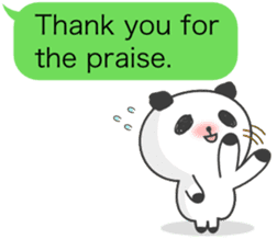 Message of panda! sticker #4011359