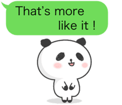 Message of panda! sticker #4011361