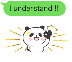 Message of panda! sticker #4011362