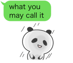 Message of panda! sticker #4011363