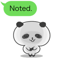 Message of panda! sticker #4011364