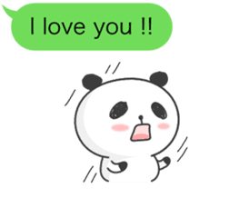 Message of panda! sticker #4011369