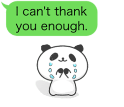 Message of panda! sticker #4011372