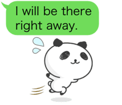 Message of panda! sticker #4011373