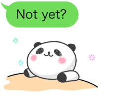 Message of panda! sticker #4011377