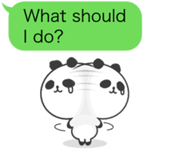 Message of panda! sticker #4011378