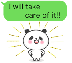 Message of panda! sticker #4011382