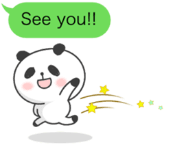 Message of panda! sticker #4011390
