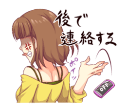 Angry girl Sticker sticker #4025695