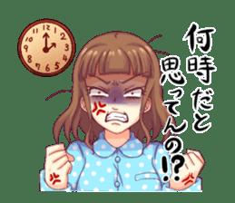 Angry girl Sticker sticker #4025699
