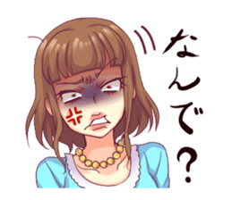 Angry girl Sticker sticker #4025704