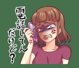 Angry girl Sticker sticker #4025709