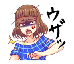 Angry girl Sticker sticker #4025717