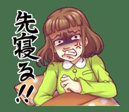 Angry girl Sticker sticker #4025721