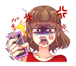 Angry girl Sticker sticker #4025725