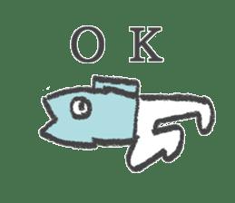 Half fish - half man sticker #4033450