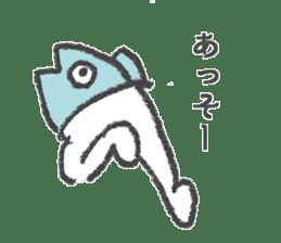 Half fish - half man sticker #4033451
