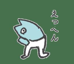 Half fish - half man sticker #4033457