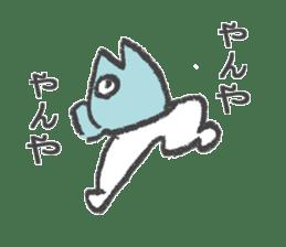 Half fish - half man sticker #4033481