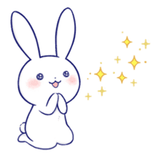 The rabbit get lonely easily 3(English) sticker #4033859