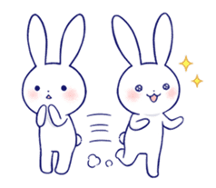 The rabbit get lonely easily 3(English) sticker #4033862