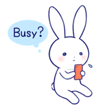 The rabbit get lonely easily 3(English) sticker #4033870