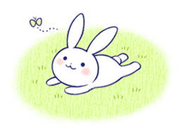 The rabbit get lonely easily 3(English) sticker #4033876