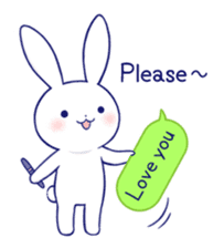 The rabbit get lonely easily 3(English) sticker #4033887