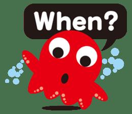 Child Octopus TAKOPON sticker #4034270