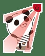 PANDA MAME is Animal of Light bulb. sticker #4034682