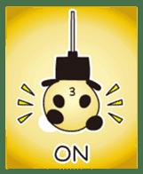PANDA MAME is Animal of Light bulb. sticker #4034686