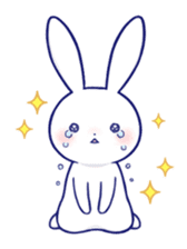 The rabbit get lonely easily 4(English) sticker #4036654
