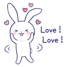The rabbit get lonely easily 4(English) sticker #4036661