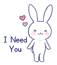 The rabbit get lonely easily 4(English) sticker #4036663