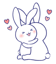 The rabbit get lonely easily 4(English) sticker #4036667
