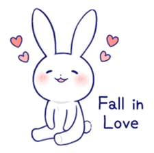 The rabbit get lonely easily 4(English) sticker #4036669