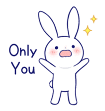 The rabbit get lonely easily 4(English) sticker #4036670