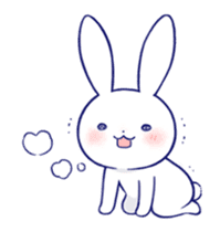 The rabbit get lonely easily 4(English) sticker #4036671