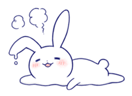 The rabbit get lonely easily 4(English) sticker #4036672