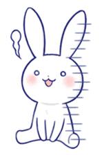 The rabbit get lonely easily 4(English) sticker #4036675