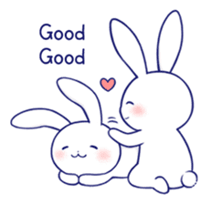 The rabbit get lonely easily 4(English) sticker #4036676